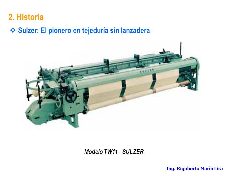 2. Historia Sulzer: El pionero en tejeduría sin lanzadera Modelo TW11 - SULZER Ing. Rigoberto Marín Lira