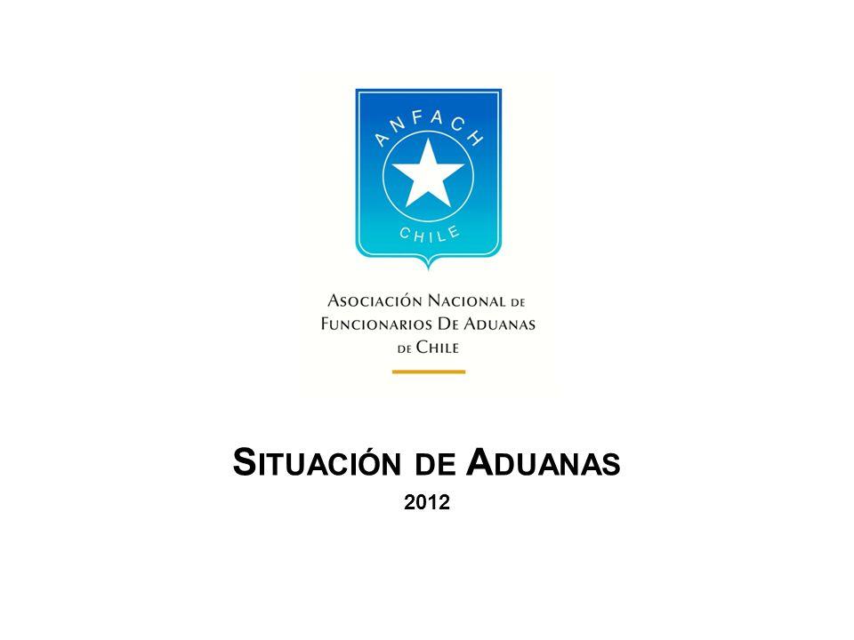 Relación Hostil hacia Aduanas La Asociación Nacional de Funcionarios de Aduanas de Chile ha venido a denunciar lo que interpreta como una serie de actos hostiles por parte de las autoridades del Gobierno en contra del Servicio Nacional de Aduanas y sus funcionarios.