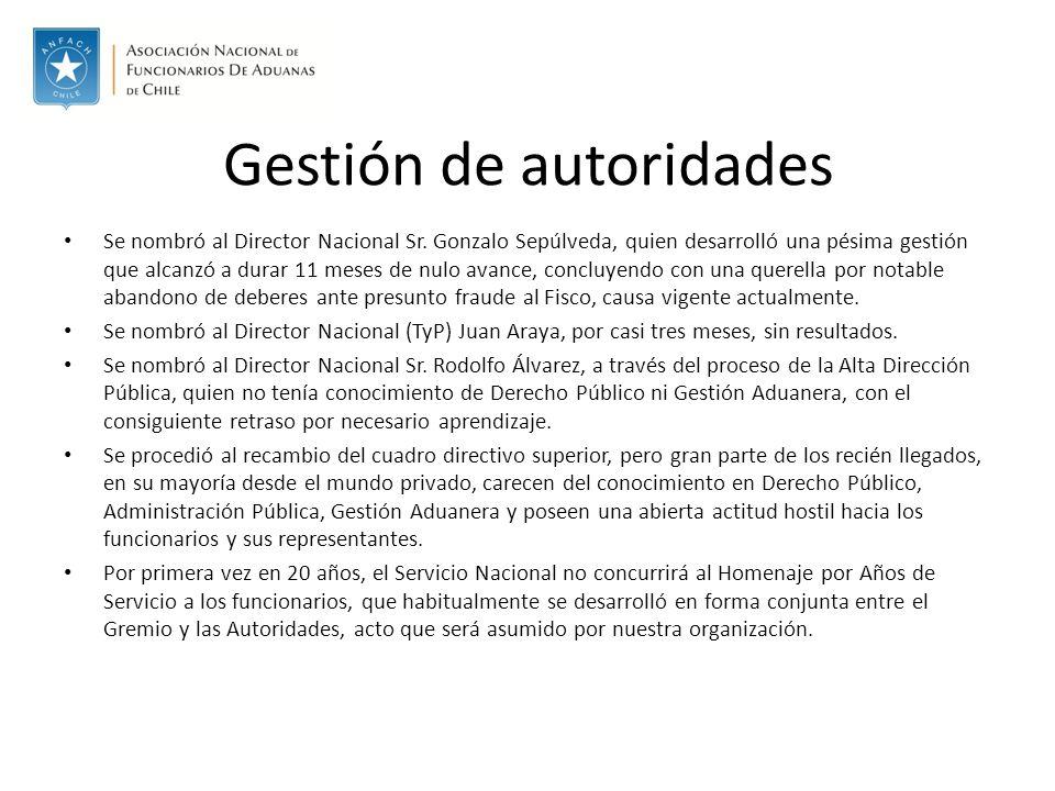 Gestión de autoridades Se nombró al Director Nacional Sr.