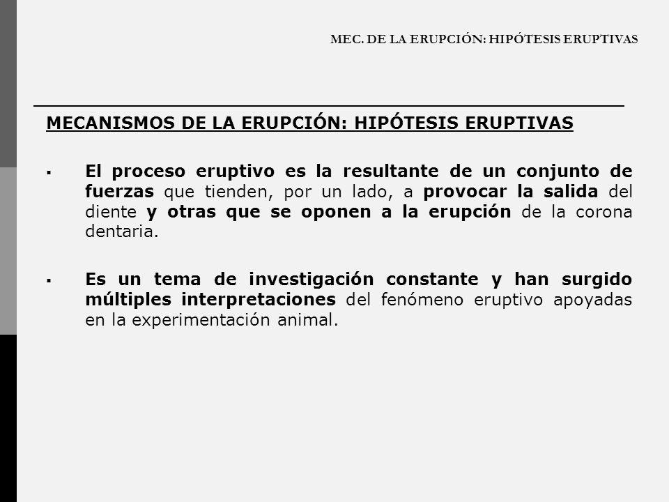 MEC. DE LA ERUPCIÓN: HIPÓTESIS ERUPTIVAS MECANISMOS DE LA ERUPCIÓN: HIPÓTESIS ERUPTIVAS El proceso eruptivo es la resultante de un conjunto de fuerzas