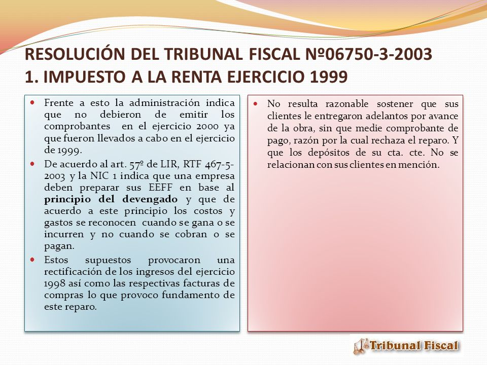RESOLUCIÓN DEL TRIBUNAL FISCAL Nº06750-3-2003 2.