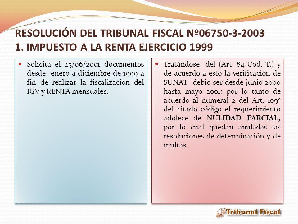Fundamentos del TF En el punto 1 el Tribunal sostiene que: según el Art.