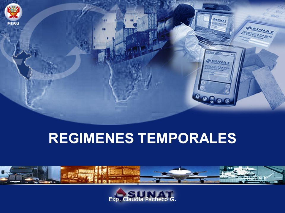 REGIMENES TEMPORALES Exp. Claudia Pacheco G.