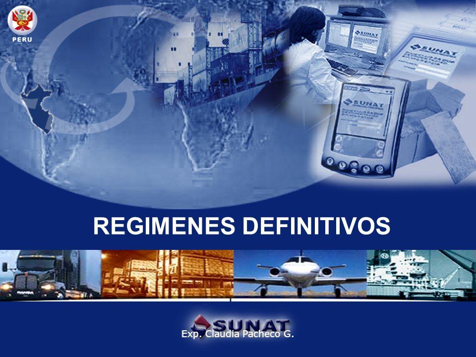 REGIMENES DEFINITIVOS Exp. Claudia Pacheco G.