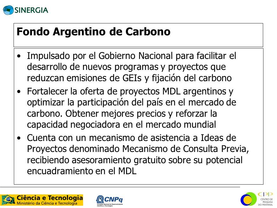Fondo Argentino de Carbono Impulsado por el Gobierno Nacional para facilitar el desarrollo de nuevos programas y proyectos que reduzcan emisiones de G