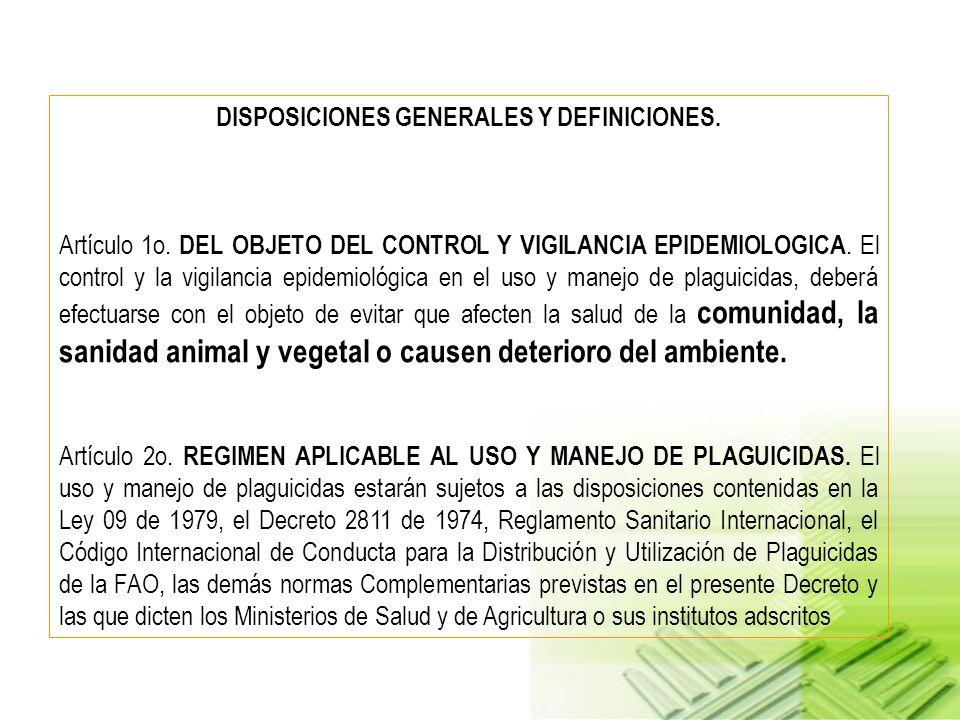 NORMATIVIDAD APLICADORES DE PLAGUICIDAS DECRETO NUMERO 1843 DE 1991 (julio 22) POR EL CUAL SE REGLAMENTAN PARCIALMENTE LOS TITULOS III, V,VI, VII Y XI