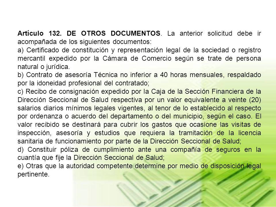 Artículo 131. DE LA LICENCIA SANITARIA DE FUNCIONAMIENTO PARA EMPRESAS APLICADORAS. Para obtener la licencia sanitaria de funcionamiento a empresas ap