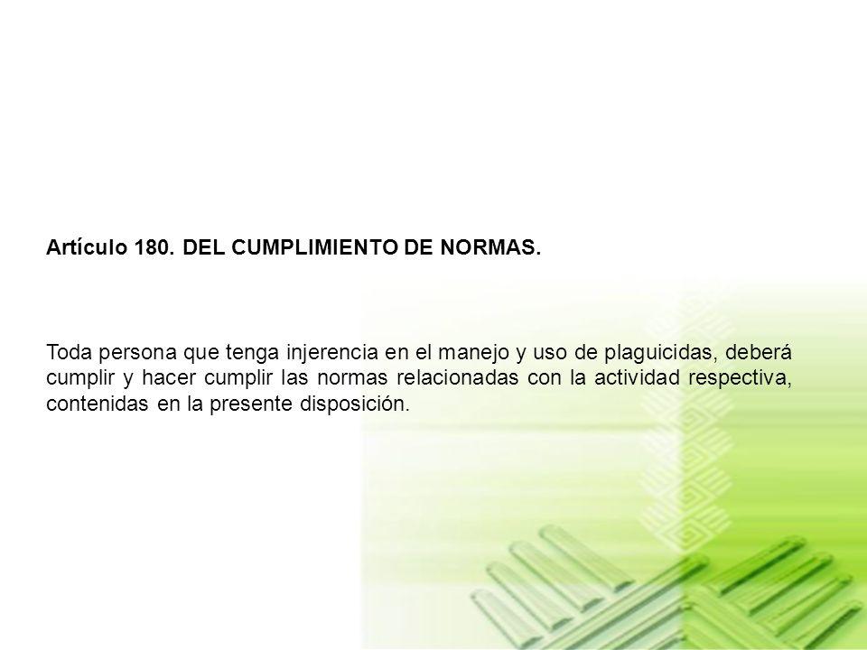 Artículo 179. DE LA DOTACION. La dotación básica para los operarios según la actividad desarrollada con plaguicidas, será la siguiente: a) Ropa de tra