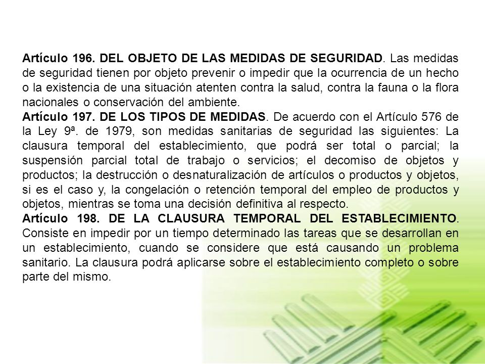 CAPITULO XVII DE LAS MEDIDAS SANITARIAS, LAS SANCIONES Y LOS PROCEDIMIENTOS