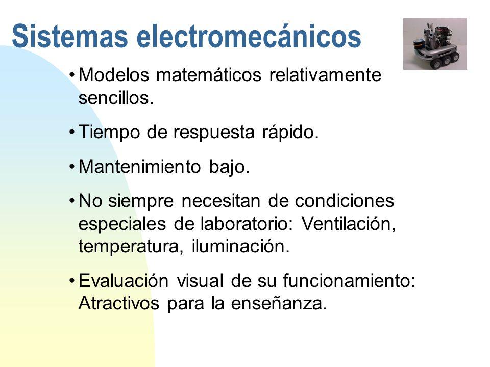 Sistemas electromecánicos Modelos matemáticos relativamente sencillos.