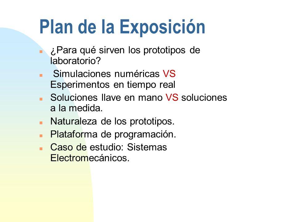 Características de los prototipos La fabricación puede hacerse según las especificaciones del usuario.