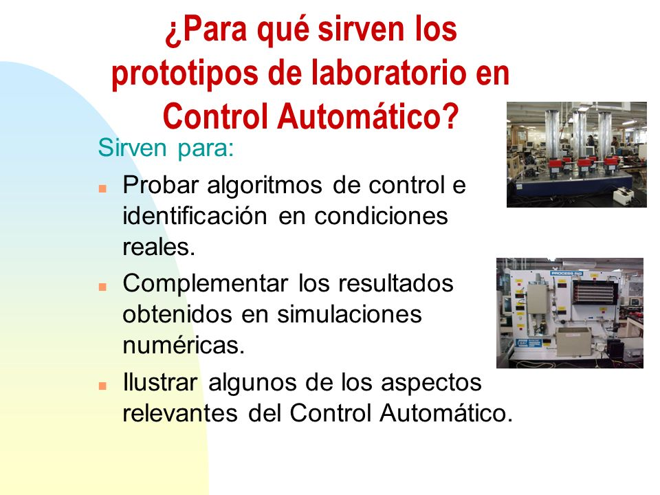 ¿Para qué sirven los prototipos de laboratorio en Control Automático.