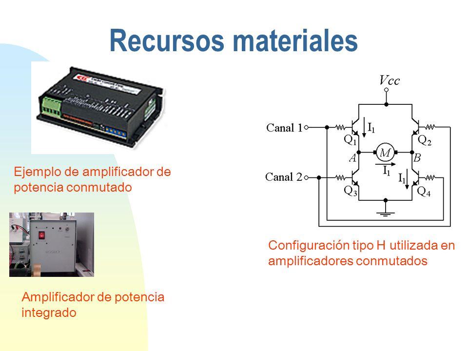 Configuración tipo H utilizada en amplificadores conmutados Ejemplo de amplificador de potencia conmutado Recursos materiales Amplificador de potencia integrado