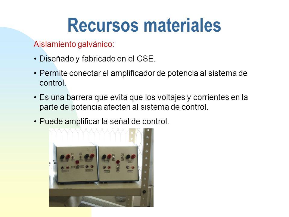 Recursos materiales Aislamiento galvánico: Diseñado y fabricado en el CSE.