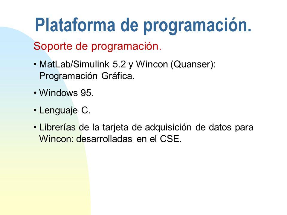 Plataforma de programación.Soporte de programación.