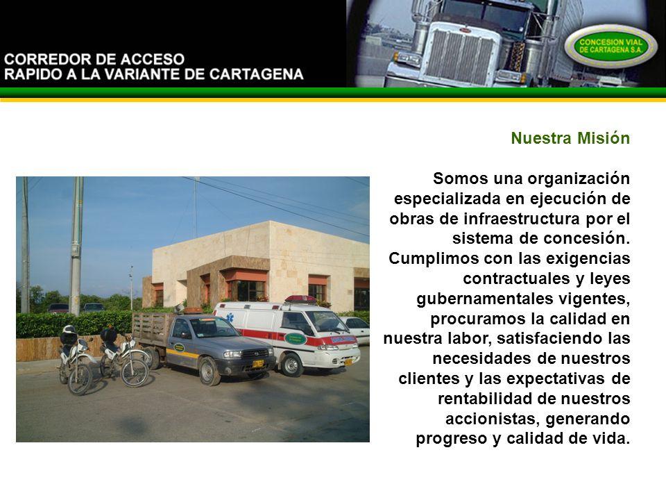 Nuestra Misión Somos una organización especializada en ejecución de obras de infraestructura por el sistema de concesión.