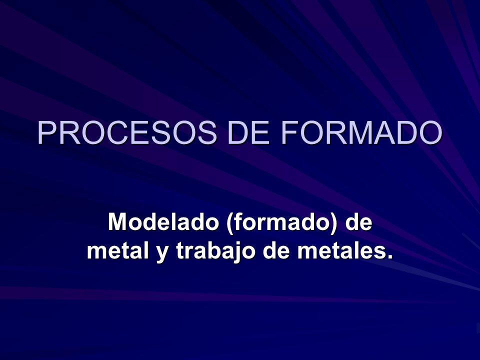 PROCESOS DE FORMADO Modelado (formado) de metal y trabajo de metales.