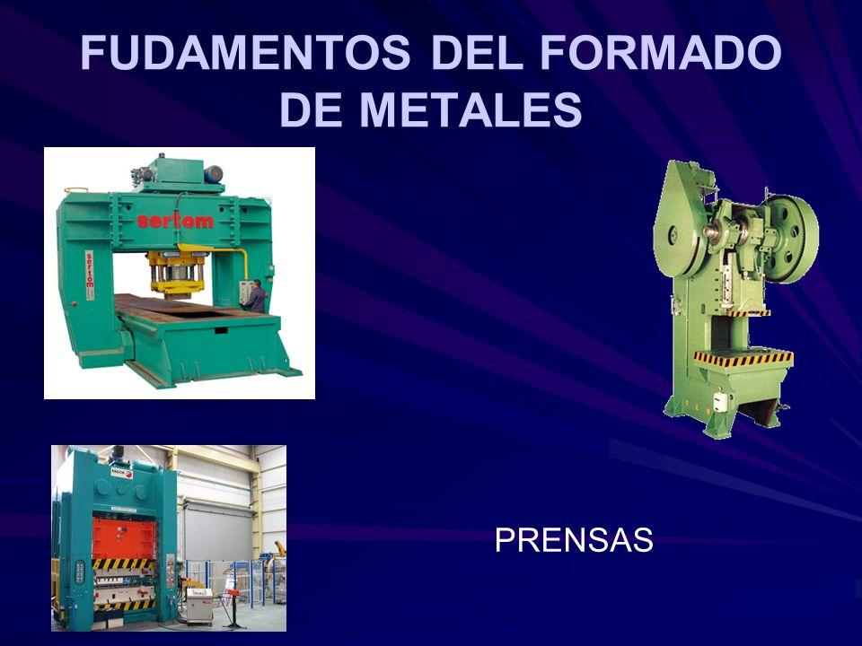 FUDAMENTOS DEL FORMADO DE METALES PRENSAS