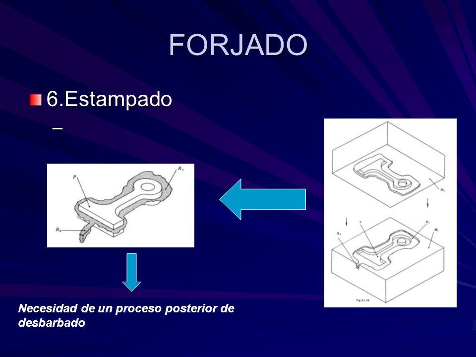 FORJADO 6.Estampado – Necesidad de un proceso posterior de desbarbado