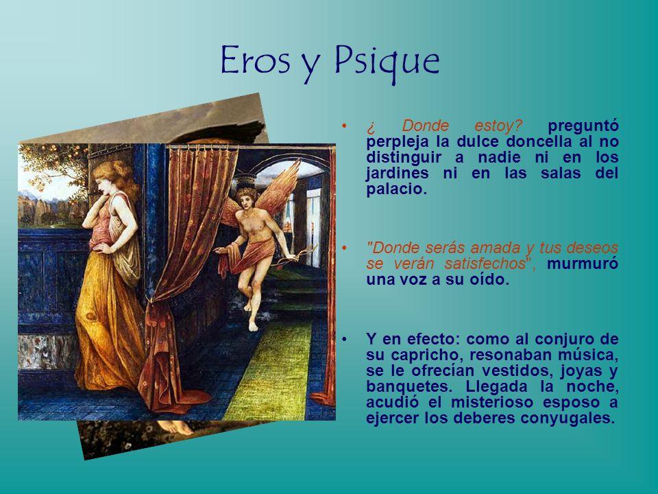 Eros y Psique Sobre un lecho de roca quedó muerta de miedo Psique, en lo alto del monte, mientras el fúnebre cortejo nupcial se retiraba.