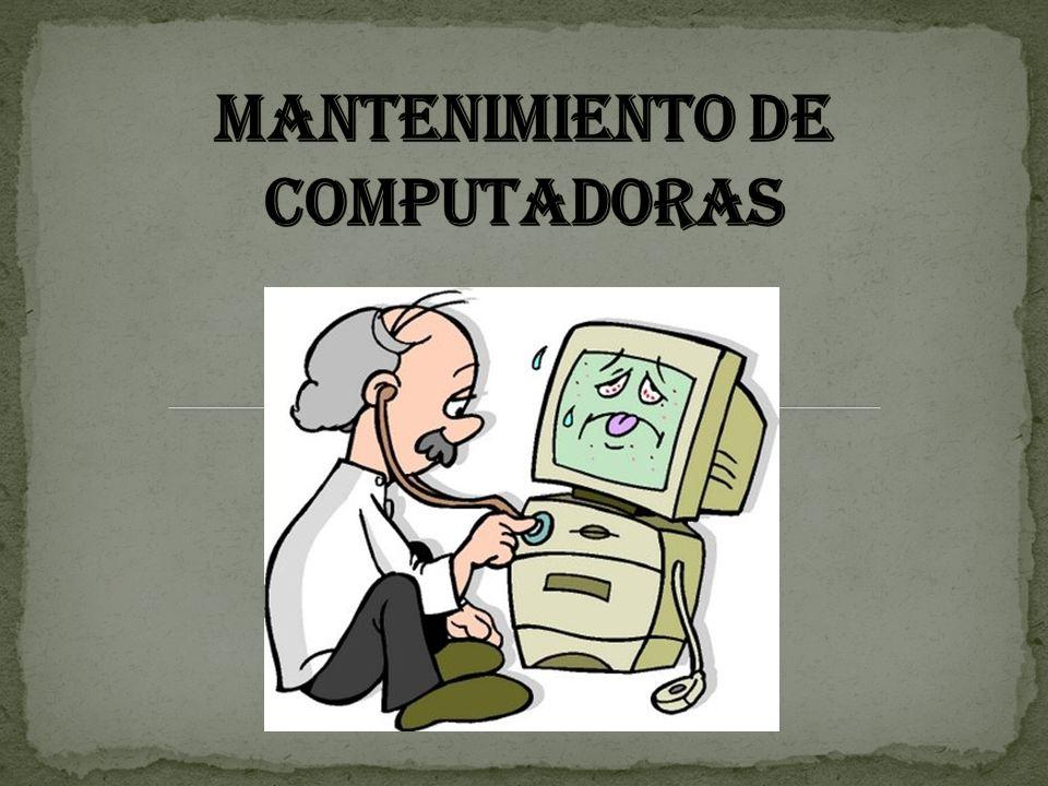 Las computadoras necesitan ser limpiados para mantenerse en perfectas condiciones.