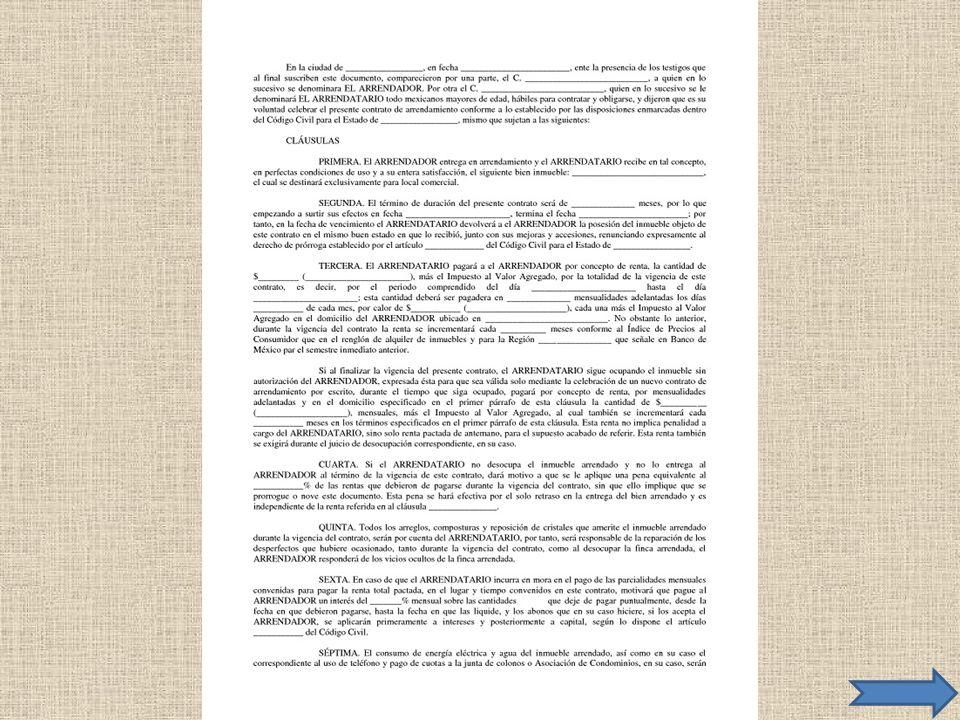 Ejemplo de Contrato de Adhesión
