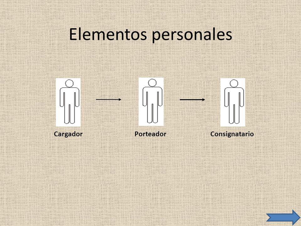 Elementos personales CargadorConsignatarioPorteador