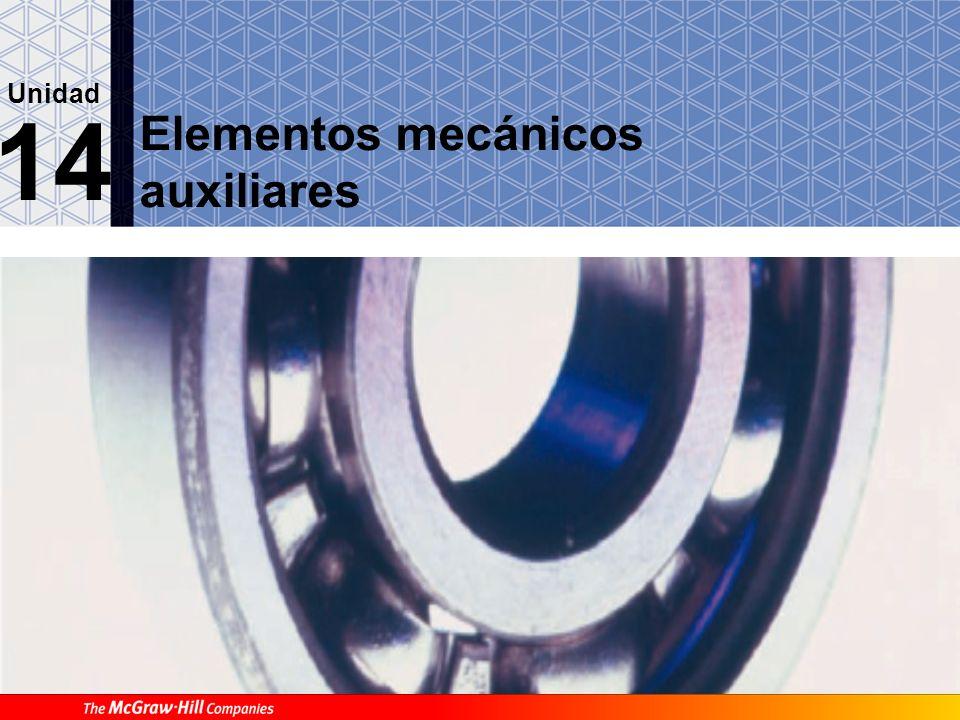 Elementos mecánicos auxiliares 14 Unidad