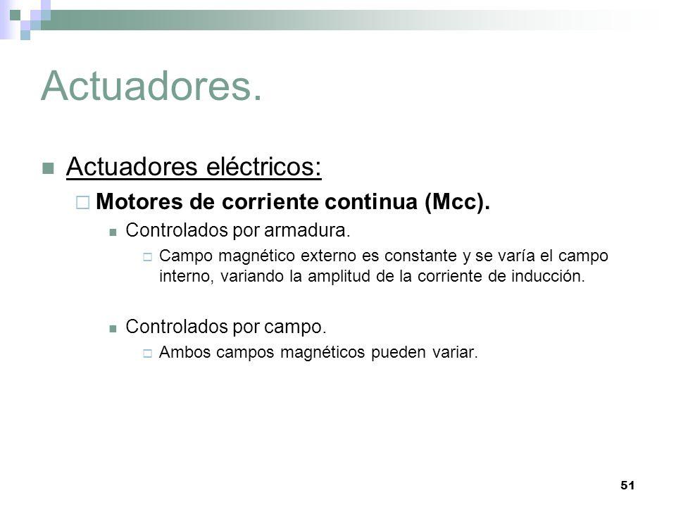 51 Actuadores.Actuadores eléctricos: Motores de corriente continua (Mcc).