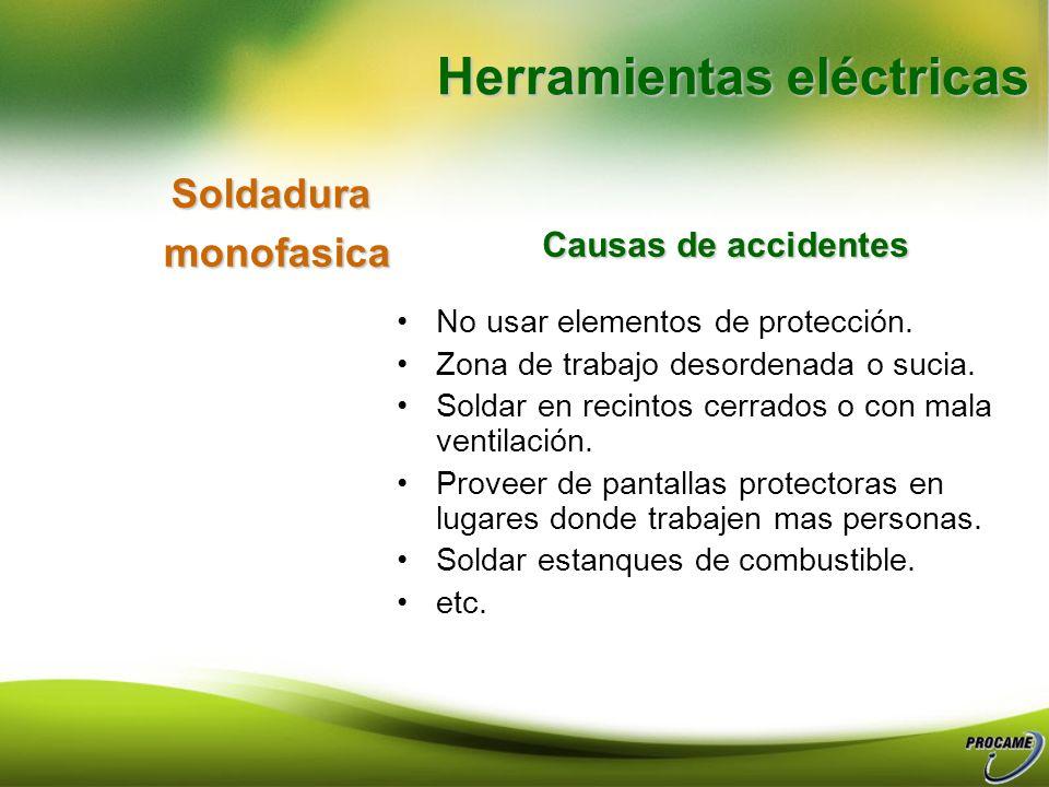 Riesgos eléctricos generales Trabajar en lugares húmedos o en presencia de combustible. Conductores con aislamiento gastada o con puntos desnudos. Tir