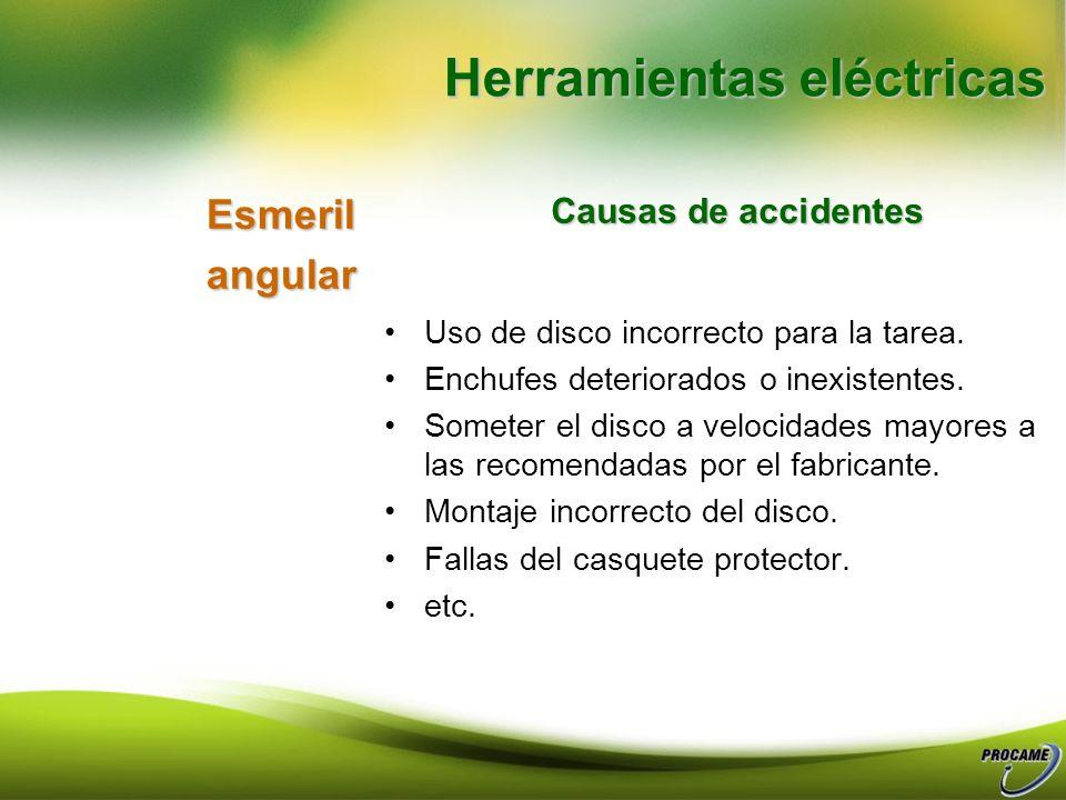 Soldaduramonofasica Causas de accidentes No usar elementos de protección. Zona de trabajo desordenada o sucia. Soldar en recintos cerrados o con mala