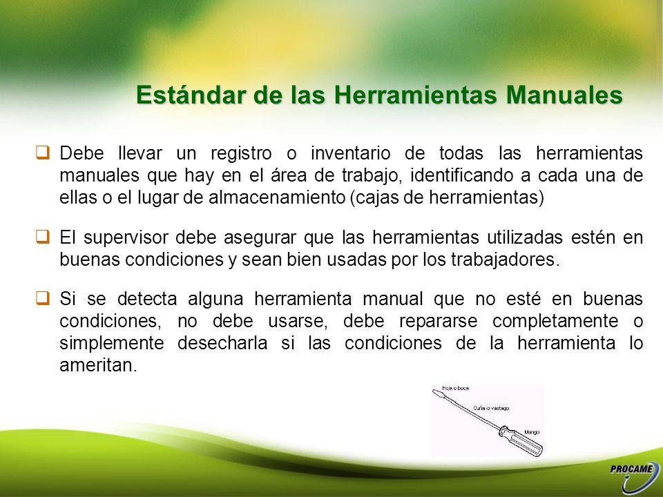 Medidas Preventivas Específicas para cada Herramienta.