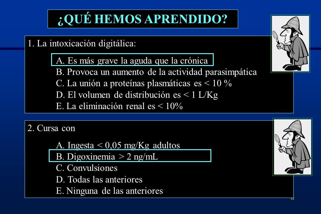 13 ¿QUÉ HEMOS APRENDIDO.3. Se consideran factores de gravedad A.