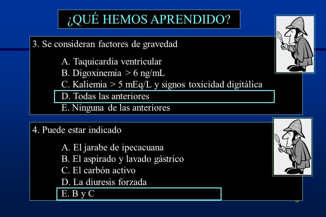 14 ¿QUÉ HEMOS APRENDIDO.5. El uso de Ac anti-digoxina A.