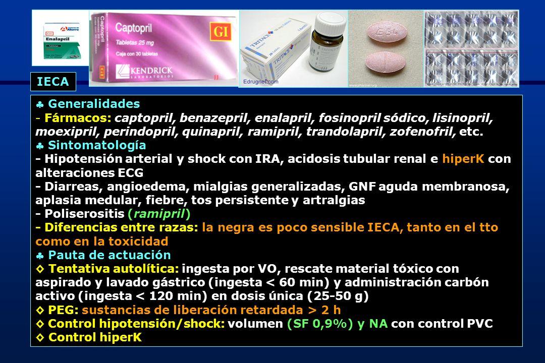 36 Generalidades - Fármacos: candesartan, irbesartan, losartan, telmisartan, valsartan - Biodisponibilidad inmediata x VO es escasa excepto irbesartan (70%) con unión a proteínas plasmáticas > 90% - Eliminación hepática.
