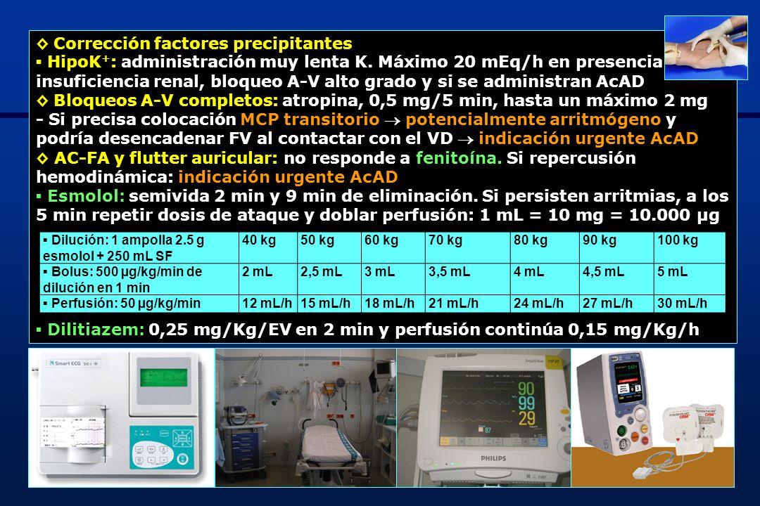 9 Arritmias ventriculares: MIENTRAS SE PREPARAN AcAD EV frecuente - Fenitoína: 50 mg EV/cada min (dosis máxima: 1 g en 20 min) y perfusión 2 mg/Kg/EV/12 h - Lidocaína: 1 er bolus 1 mg/Kg seguido de 2º bolus 1 mg /Kg a los 5 min seguido perfusión continua 2,5 mg/min TV: 1,5 g sulfato magnesio EV FV: cardioversión eléctrica puede desencadenar arritmias ventriculares fatales prudencia comenzar a dosis muy bajas (10 J) ESTÁ CONTRAINDICADO CLORURO O GLUCONATO CÁLCICO Antídoto: anticuerpos antidigoxina (AcAD) 40 mg Digifab® neutralizan 0,59 mg de digoxina Situaciones riesgo vital asociadas a toxicidad digitálica - Bradiarritmia con FV < 40 lpm y que no responde (mantiene FV < 60 lpm) a dosis repetidas de atropina EV de 0,5 mg (dosis máxima: 2 mg) - Extrasistolia ventricular con riesgo de taquicardia o FV (extrasistolia frecuente, dupletes, tripletes multifocales o con fenómeno de R sobre T)