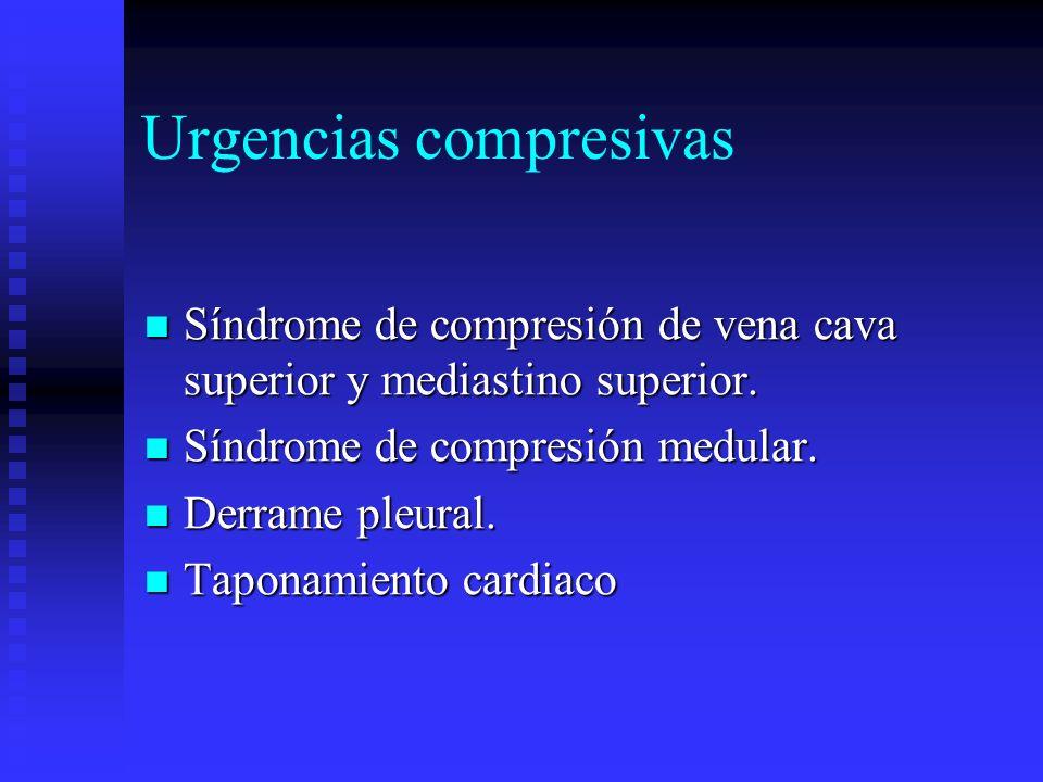 Urgencias compresivas Síndrome de compresión de vena cava superior y mediastino superior. Síndrome de compresión de vena cava superior y mediastino su