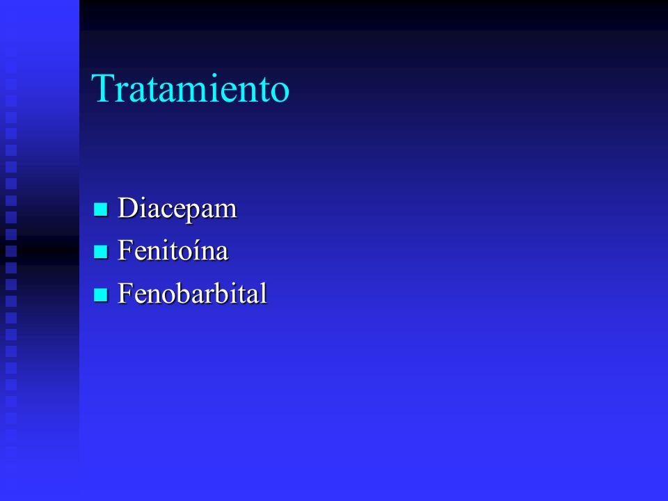 Tratamiento Diacepam Diacepam Fenitoína Fenitoína Fenobarbital Fenobarbital