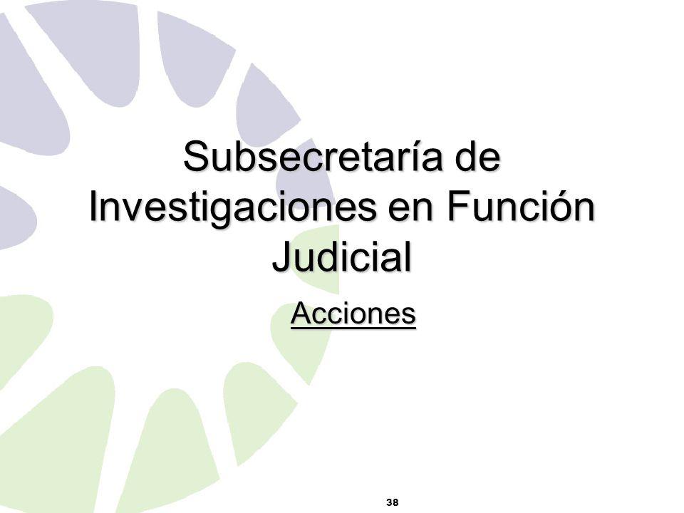 Subsecretaría de Investigaciones en Función Judicial Acciones 38