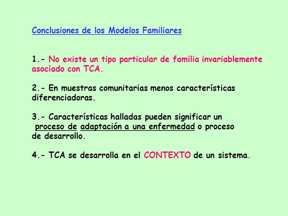 Estudios de Emoción Expresada en TCA Comentarios críticos - Comentarios críticos - Hostilidad - Sobreimplicación emocional - Calidez - Señalamientos p