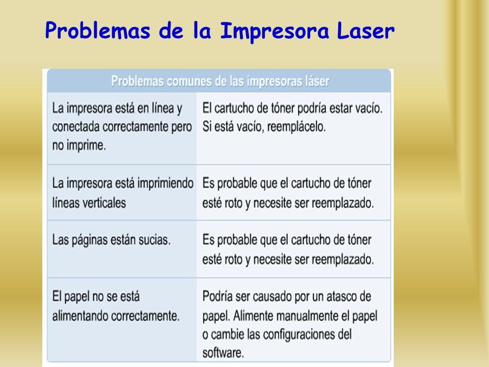 Problemas de la Impresora Laser