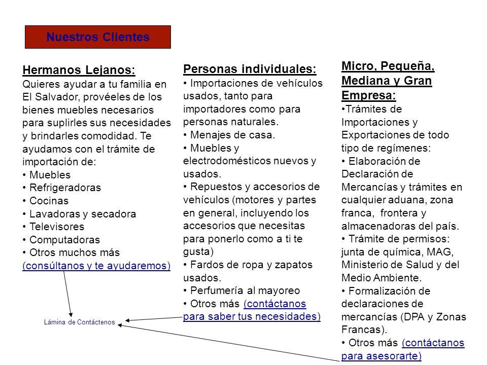 Hermanos Lejanos: Quieres ayudar a tu familia en El Salvador, provéeles de los bienes muebles necesarios para suplirles sus necesidades y brindarles c