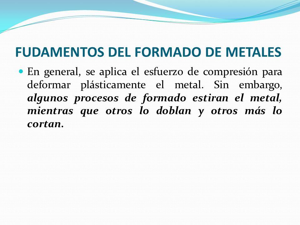 FORJADO 6.Estampado Las temperaturas aproximadas de forjado son: acero 1100 a 1250 °C; cobre y sus aleaciones 750 a 925°C; magnesio 370 a 450°C.