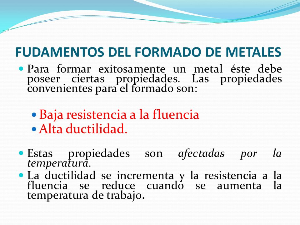 Trabajo del metal en caliente Laminación en caliente: Conformado en el cual se hace pasar el metal por trenes de rodillos que le dan una forma progresivamente más parecida a la deseada.