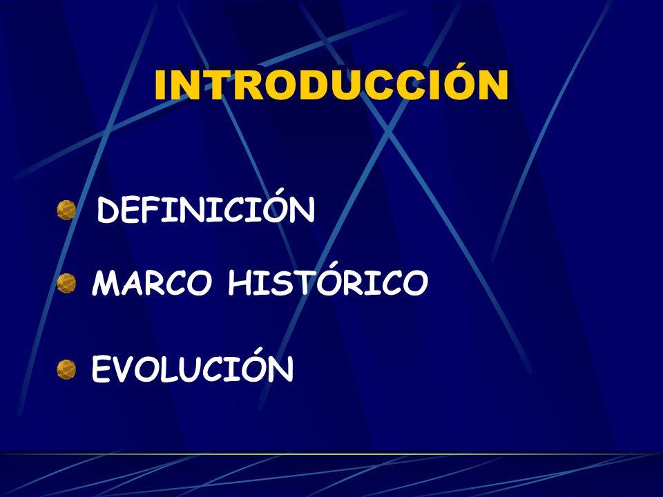INTRODUCCIÓN DEFINICIÓN MARCO HISTÓRICO EVOLUCIÓN