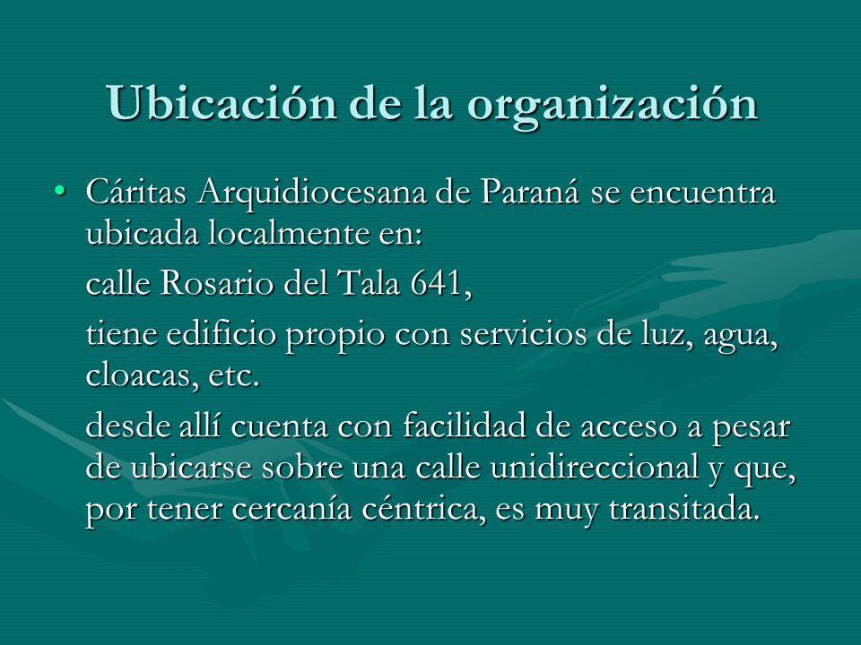Ubicación de la organización Cáritas Arquidiocesana de Paraná se encuentra ubicada localmente en:Cáritas Arquidiocesana de Paraná se encuentra ubicada