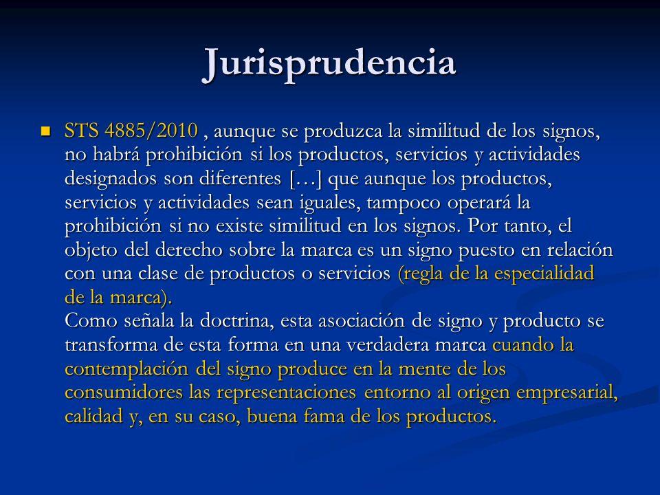 Jurisprudencia STS 4885/2010, aunque se produzca la similitud de los signos, no habrá prohibición si los productos, servicios y actividades designados