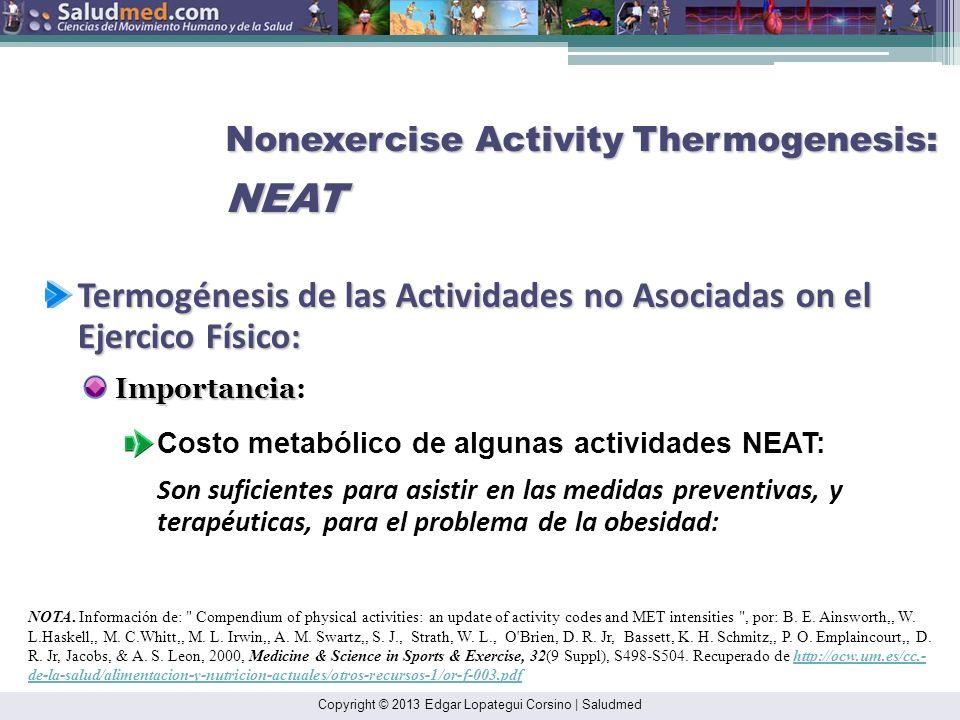 Copyright © 2013 Edgar Lopategui Corsino | Saludmed NOTA: Adaptado de: Sports and Fitness Nutrition. (p. 283), por R. E. C., Wildman & B. S., Millar,