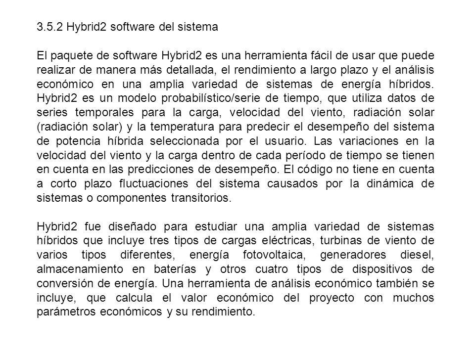 3.5.2 Hybrid2 software del sistema El paquete de software Hybrid2 es una herramienta fácil de usar que puede realizar de manera más detallada, el rend