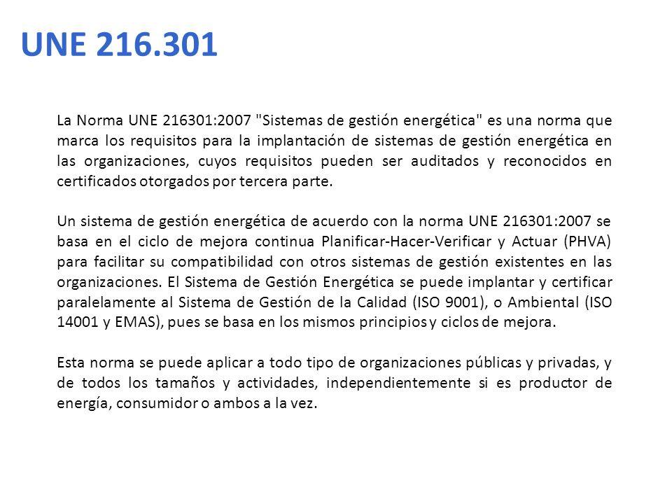 La Norma UNE 216301:2007